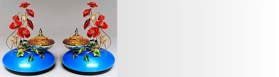Decorative enamel floral sculptures